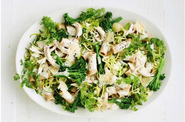 Creamy Chicken Pasta with Fresh Greens